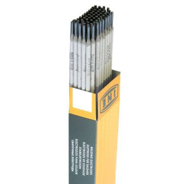 Basic-coated stick electrode for welding weather-resistant steels