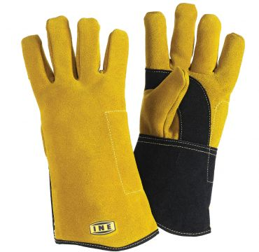 Reinforces split leather glove for MIG/MAG and MMA welding